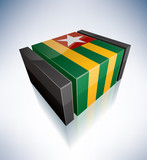 3D flag of Togolese Republic