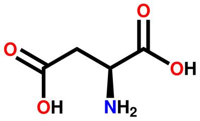Amino acid aspartic acid structural formula