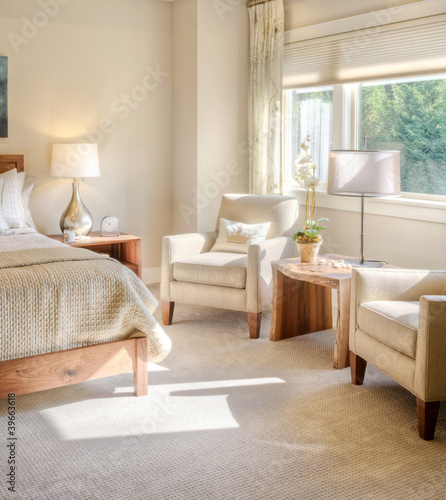Beautiful Bedroom Detail in Luxury Home