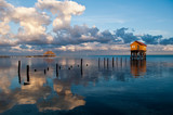 Fototapety Home on the Ocean in Ambergris Caye Belize