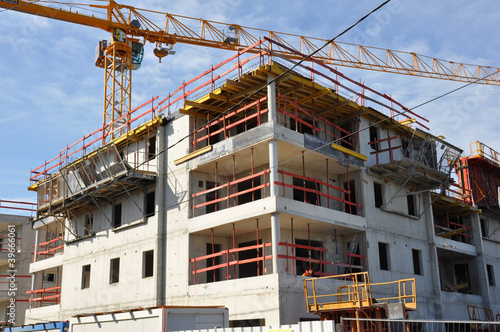 immeuble logements chantier de construction
