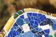 Mosaic detail in Park Guell, Barcelona