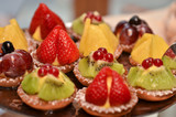 Pasticcini alla frutta close up