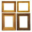 Set of few old bronze frames