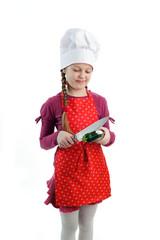 Girl with zucchini