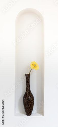 Yellow flower in vase