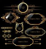 Fototapety Elegant gold and black labels
