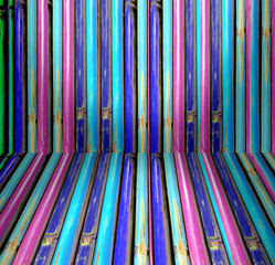 Colorful of Bamboo perspective, texture.