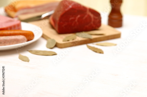 meats composition background