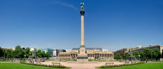 Königsbau und Jubiläumssäule in Stuttgart