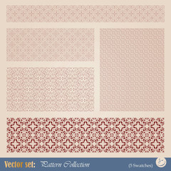Vector seamless pattern in vintage style