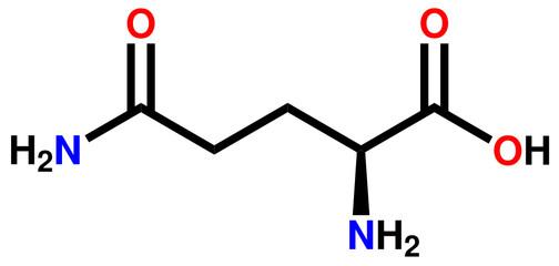 Amino acid glutamine structural formula