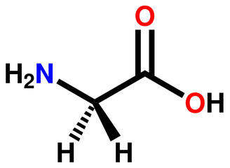 Amino acid glycine structural formula