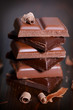 Schokolade gestapelt