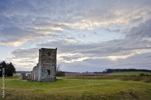 Knowlton church in Dorset