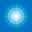 vector abstract radial element with rays on blue background