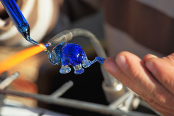 Delicate work of the glass blower