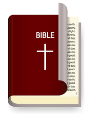 Vector Holy Bible isolated on white