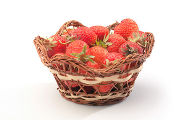 Strawberries in pottle