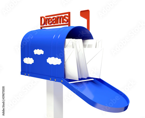 Mail box with dream letters