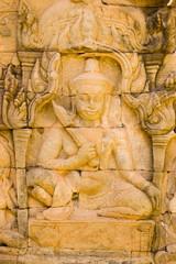 Deva carving, Angkor Thom, Cambodia