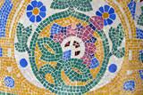 Mosaic. Modernist art (also called Art Deco). Barcelona poster