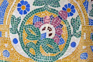 Mosaic. Modernist art (also called Art Deco). Barcelona