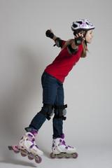 Kind beim Inline skaten