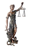 Themis, mythological Greek goddess, symbol of justice poster