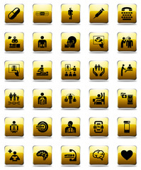 Healthcare glossy icon