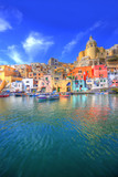 Fototapety Procida, Isola nel mar mediterraneo, Napoli