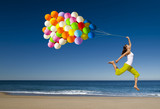 Fototapety Jumping with balloons