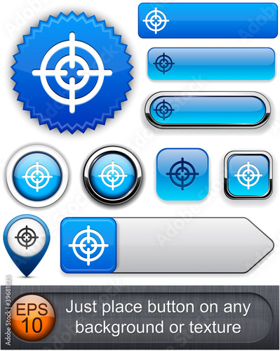 Aim high-detailed modern buttons.