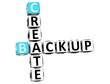 3D Backup Create Crossword text