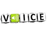 3D Your Voice Crossword block text poster