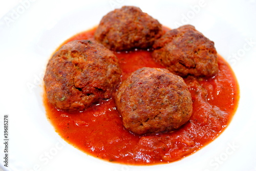 Serving of Meatballs