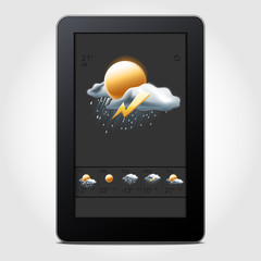 Tablet weather