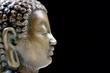 Bronze Buddha isolated profile