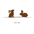 Frohe Ostern - braune Silhouette
