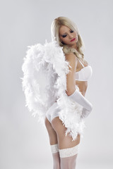 sensuality angel in  lingerie