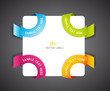 Color vector corner ribbons.