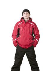 Мужчина в горнолыжном костюме