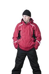 Мужчина в зимнем спортивном костюм