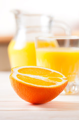 Orange with juice.