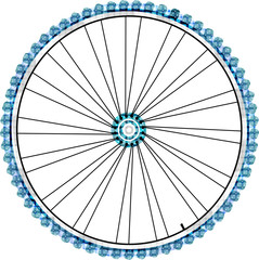 Bike wheel isolated on white background. vector