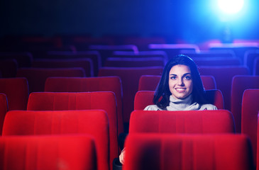 watching a movie at the cinema