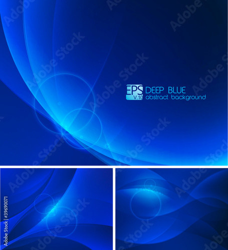 Deep blue Abstract Background