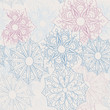vector seamless lacy flower background