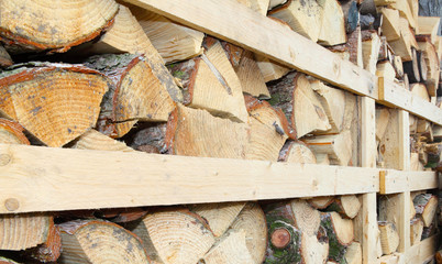 Holzstapel für den Winter