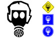 Respiratory protection pictogram and signs